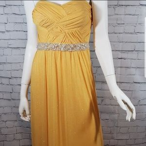 City Triangles Yellow Prom Dress